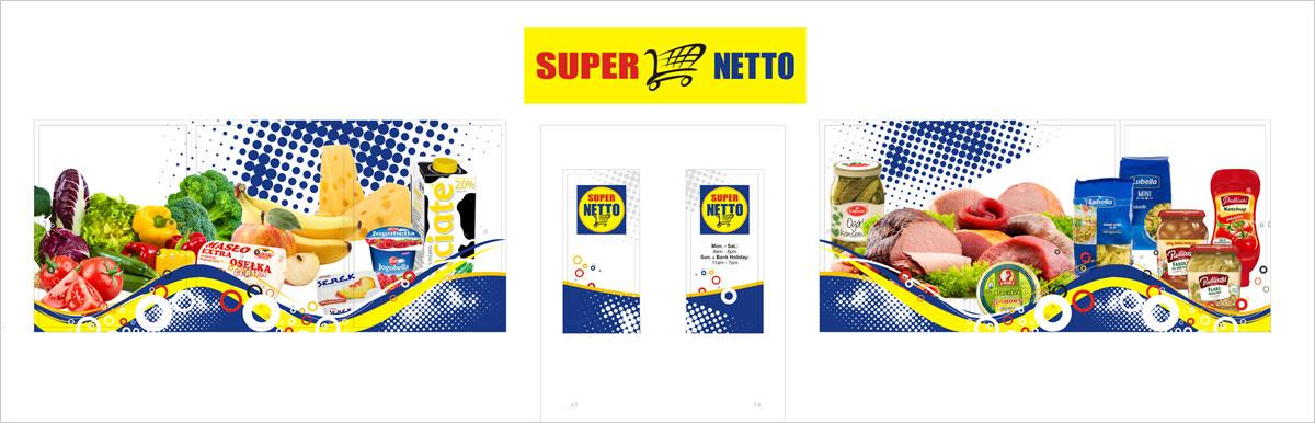 Projekt witryny dla SUPER NETTO