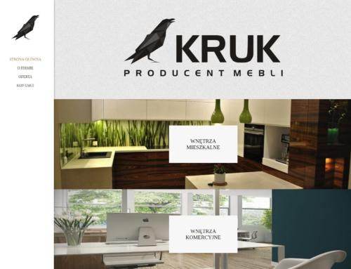Strona internetowa dla producenta mebli – Kruk Meble – Tomice k. Wadowic