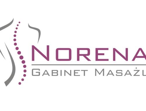 Projekt logo dla gabinetu masażu Norena – Dąbie