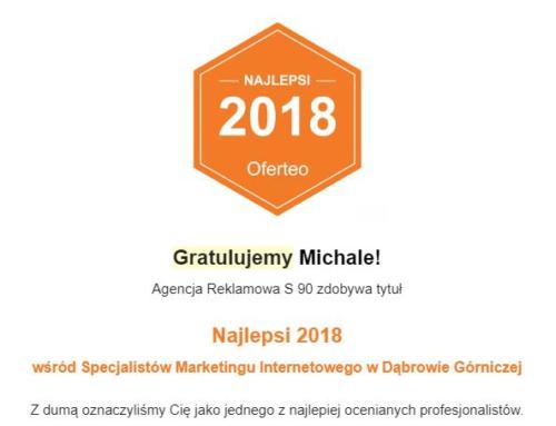 Najlepsi 2018 – pozycjonowanie Dąbrowa Górnicza – Agencja Interaktywna