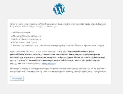 Instalacja odpodstaw CMS WordPress 5.8